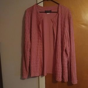 Plus sizePink open cardigan